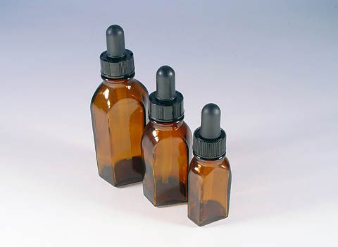 Rexam Amber Glass Dropper Bottles