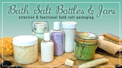 Bath Salt Tubes and Body Scrub Bottles and Jars