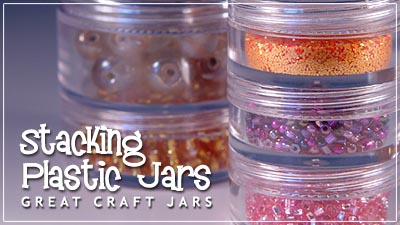 Clear Plastic Jars with Stacking Jar and Sifter Jar Options