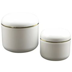 Double Wall Plastic Jars with Child Resistant Caps for Topical Cannabis Ointments