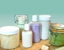 Bath Salts and Body Scrub Jars